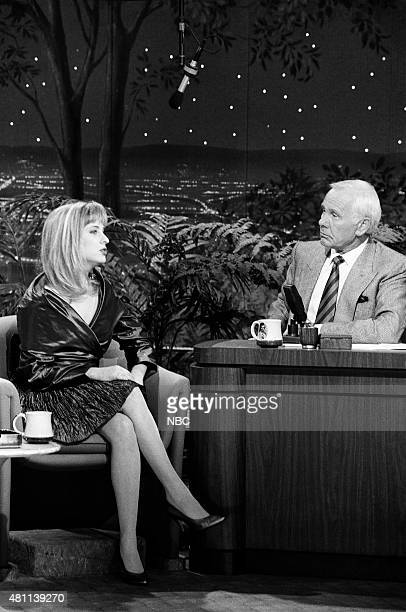 Actress Kimmy Robertson during an interview with host Johnny Carson on December 6 1990