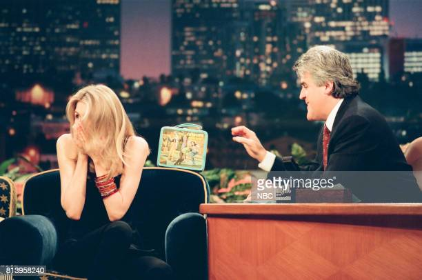 Actress Laura Dern during an interview with host Jay Leno on April 30 1998
