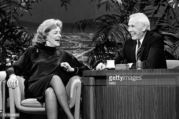 Actress Lauren Bacall host Johnny Carson on January 23 1987