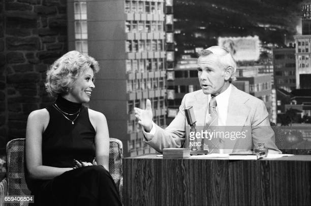 Actress Leslie Easterbrook during an interview with Host Johnny Carson on May 19th 1976