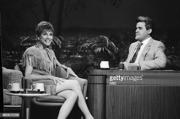 Actress Liliane Montevecchi during an interview with guest host Jay Leno on July 1 1991