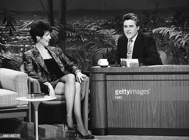Actress Lucie Arnaz during an interview with guest host Jay Leno on January 24 1991