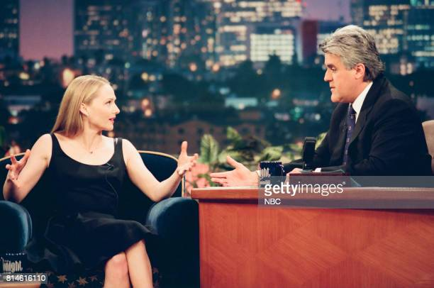 Actress Maria Pitillo During An Interview With Host Jay Leno On June 1 1998