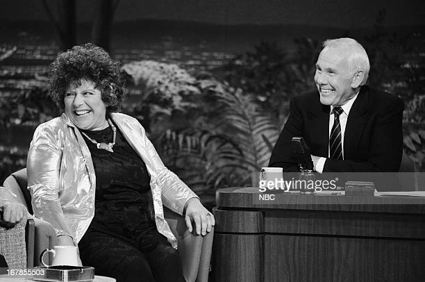 Actress Miriam Margolyes host Johnny Carson on November 10 1989
