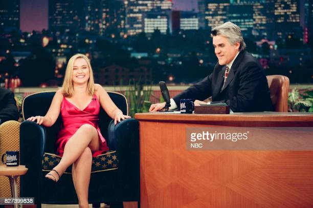 Actress Monica Keena during an interview with host Jay Leno on April 5 1999