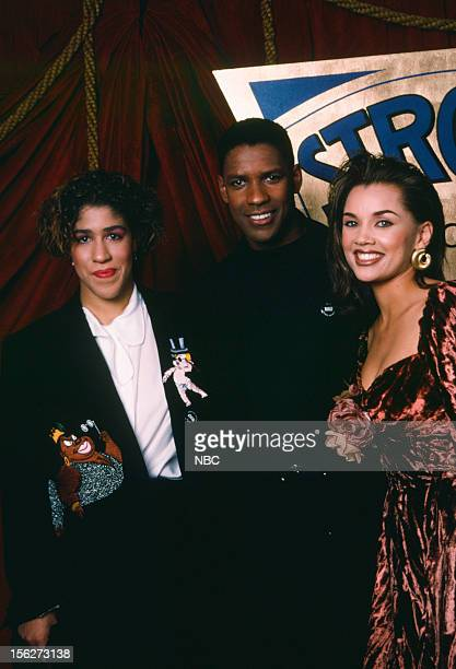 Actress Rain Pryor actor Denzel Washington actress/singer Vanessa Williams during the 22nd NAACp Image Awards held at The Wiltern Theatre on December...