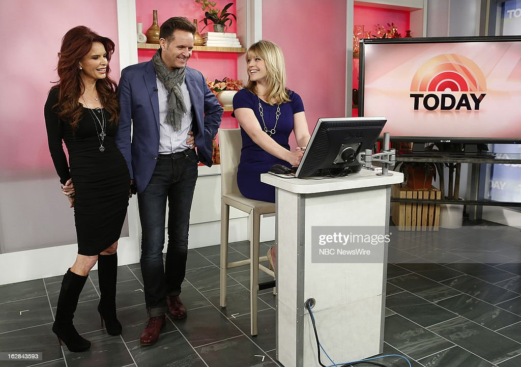 Actress Roma Downey, producer Mark Burnett and NBC News' Sara Haines appear on NBC News' 'Today' show on February 28, 2013 --