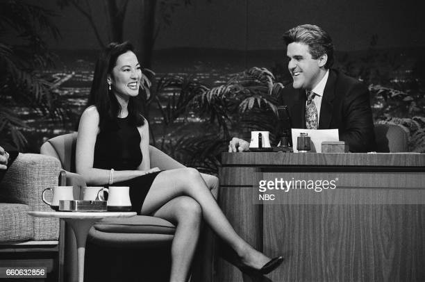 Actress Rosalind Chao during an interview with guest host Jay Leno on July 3 1991