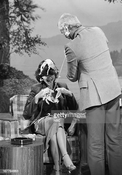 Actress Sally Field host Johnny Carson on February 20 1979