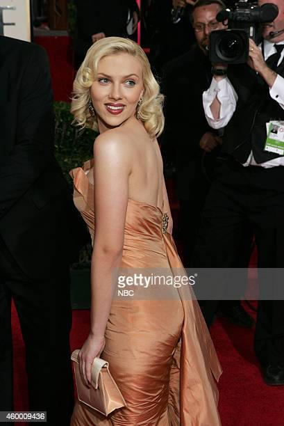 Pictured: Actress Scarlett Johansson arrives at the 62nd Annual Golden Globe Awards held at the Beverly Hilton Hotel on January 16, 2005 --