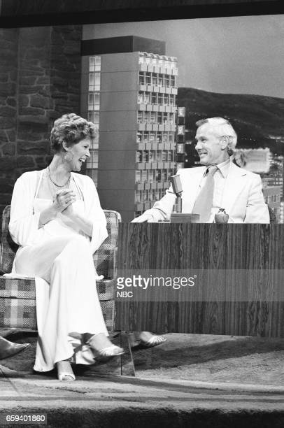 Actress Susan Clark during an interview with Host Johnny Carson on May 14th 1976