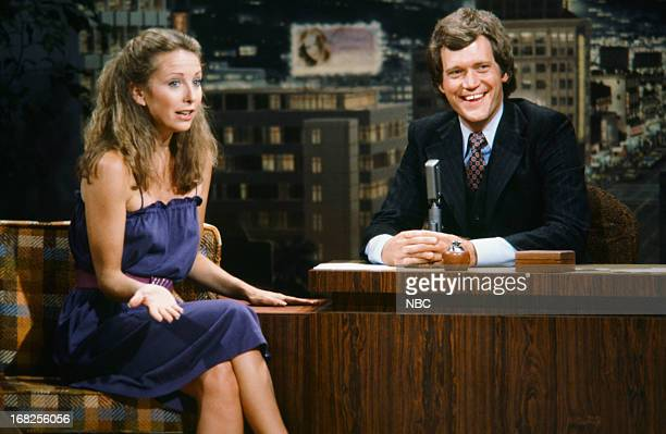Actress Teri Garr guest host David Letterman on December 5 1979