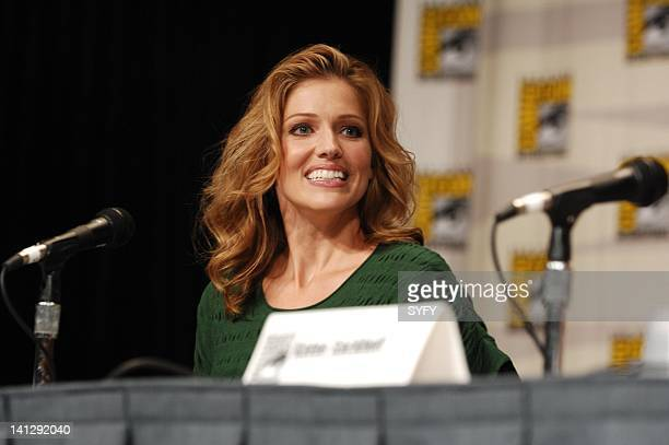 Pictured: Actress Tricia Helfer during the Battlestar Galactica panel at the 2007 Comic-Con Convention in San Diego, Ca -- Photo by: Ken Jacques/SCI...