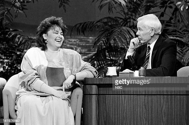 Actress/comedian Roseanne Barr host Johnny Carson on January 23 1987
