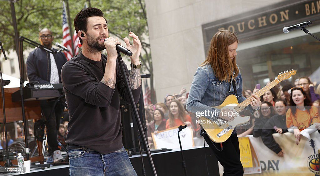 Adam Levine and James Valentine of Maroon 5 appear on NBC News' 'Today' show --