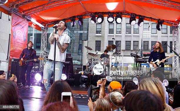 Adam Levine of Maroon 5 appears on NBC News' Today show