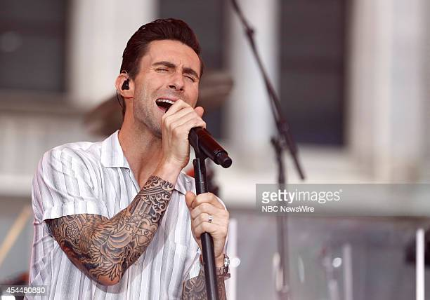 Adam Levine of Maroon 5 appears on NBC News' 'Today' show