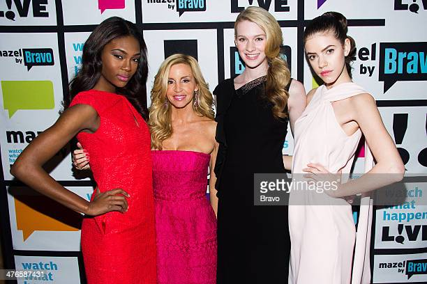 Afiya Bennett Camille Grammer Isabelle Bianchi and Allison Millar Photo by Charles Sykes/Bravo/NBCU Photo Bank via Getty Images