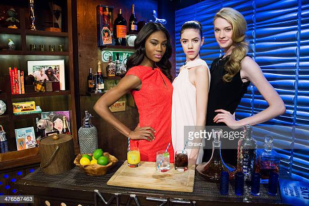 Afiya Bennett Isabelle Bianchi and Allison Millar Photo by Charles Sykes/Bravo/NBCU Photo Bank via Getty Images