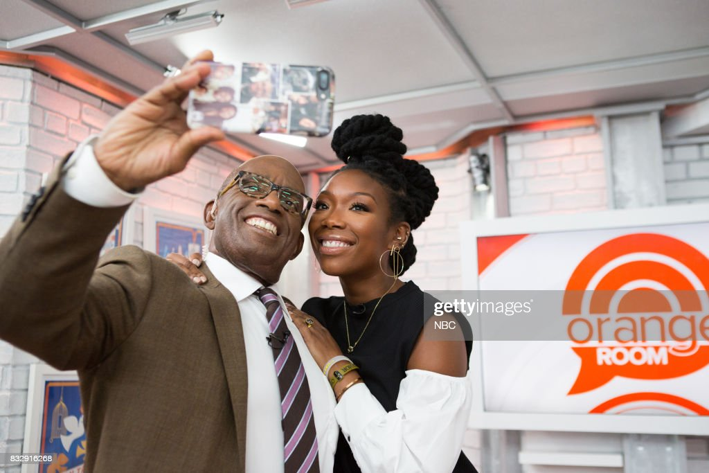 Al Roker and Brandy Norwood on Wednesday, August 16, 2017 --