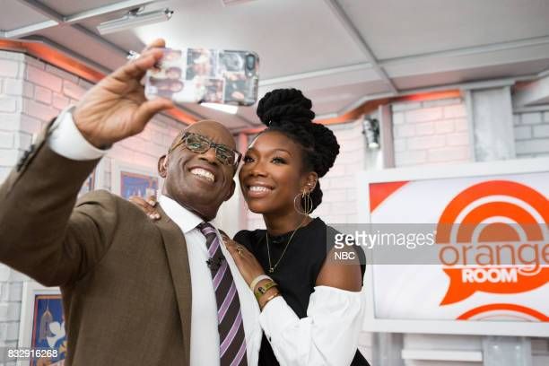 Al Roker and Brandy Norwood on Wednesday August 16 2017