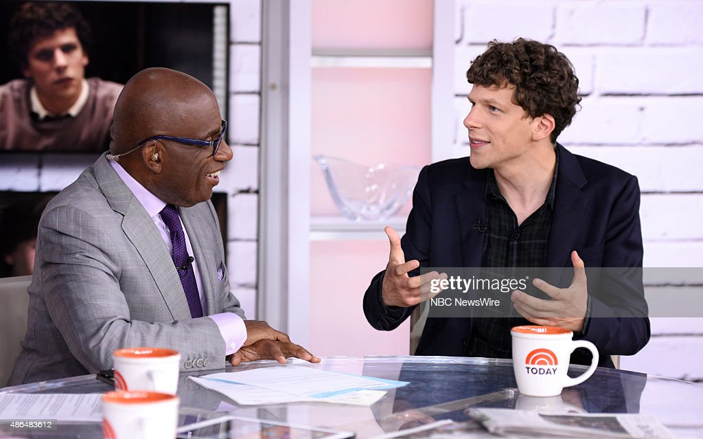 Al Roker and Jesse Eisenberg appear on NBC News' 'Today' show --
