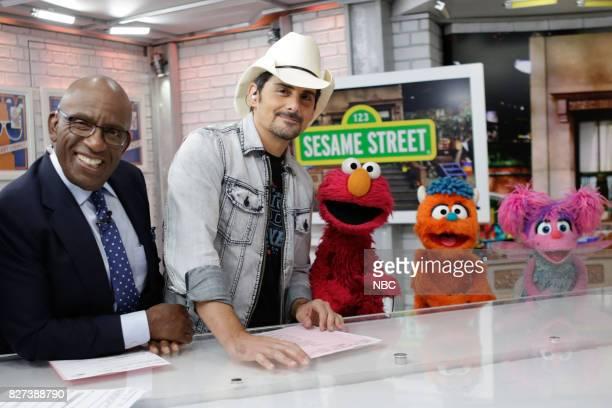 Al Roker, Brad Paisley, Elmo, Rudy and Abby Cadabby on Friday, Aug. 4, 2017 --