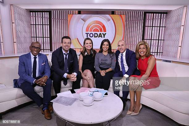 Al Roker Carson Daly Savannah Guthrie America Ferrera Matt Lauer Hoda Kotb on Wednesday September 21 2016