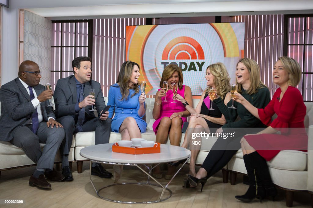 Al Roker, Carson Daly, Savannah Guthrie, Hoda Kotb, Kathie Lee Gifford, Jenna Bush Hager and Dylan Dreyer on Tuesday, January 2, 2018 --