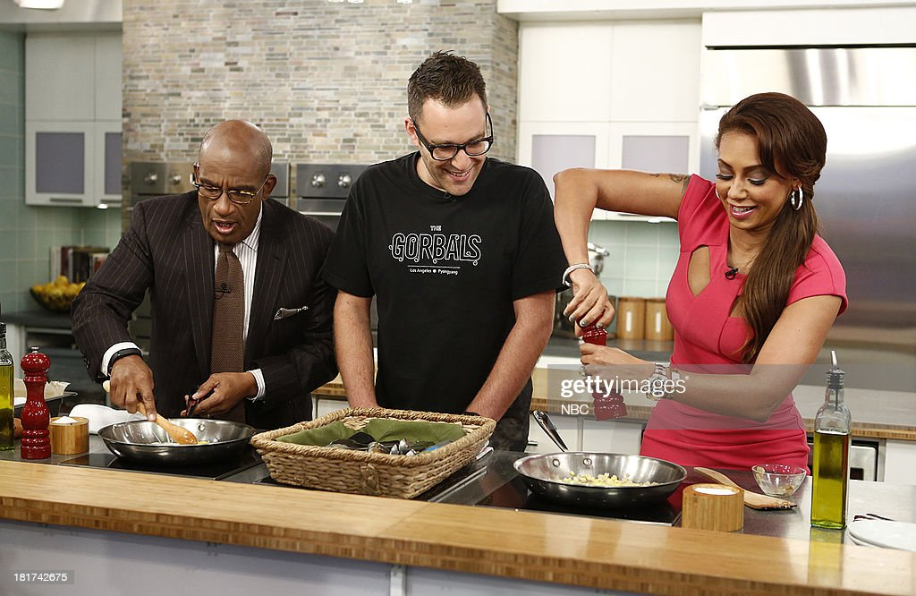 Al Roker, Ilan Hall and Melanie Brown (Mel B) appear on NBC News' 'Today' show --