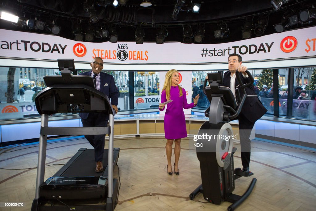 Al Roker, Jill Martin and Carson Daly on Wednesday, January 3, 2018 --