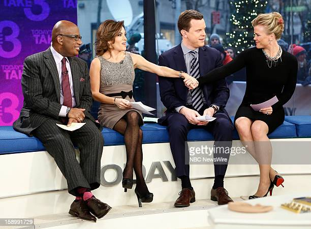 Al Roker Kit Hoover Willie Geist and Alison Sweeney appear on NBC News' 'Today' show