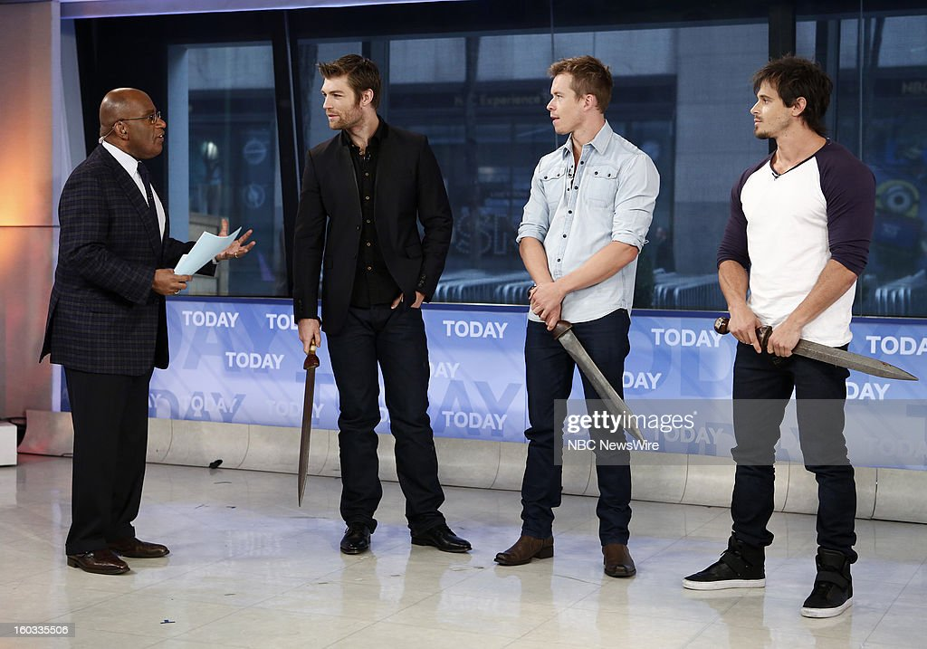 Al Roker, Liam McIntyre,Todd Lasance and Tyrone Bell appear on NBC News' 'Today' show --