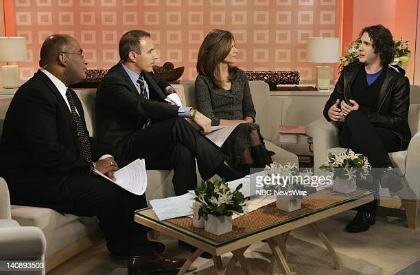 "Al Roker, Matt Lauer and Natalie Morales interview singer/musician Josh Groban on NBC News' ""Today"" on February 7, 2007 -- Photo by: Virginia..."