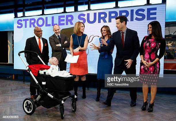 Al Roker Matt Lauer Savannah Guthrie Natalie Morales Carson Daly and Darlene Rodriguez appear on NBC News' Today show