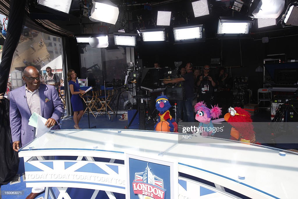 Al Roker, Natalie Morales, Grover, Abby, Elmo on August 9, 2012 --