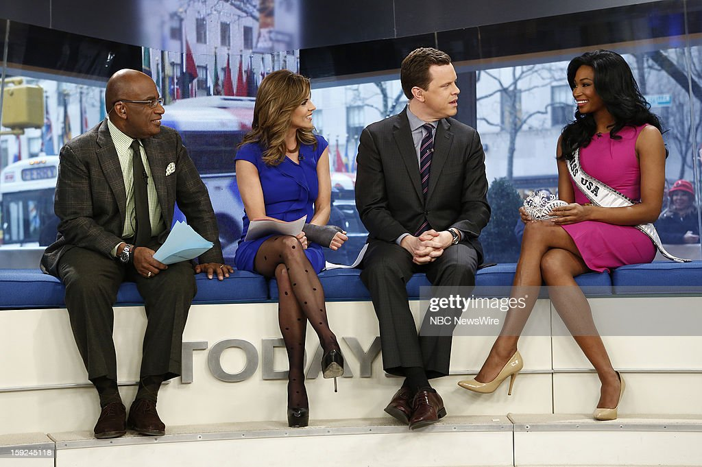 Al Roker, Natalie Morales, Willie Geist and Nana Meriwether appear on NBC News' 'Today' show --