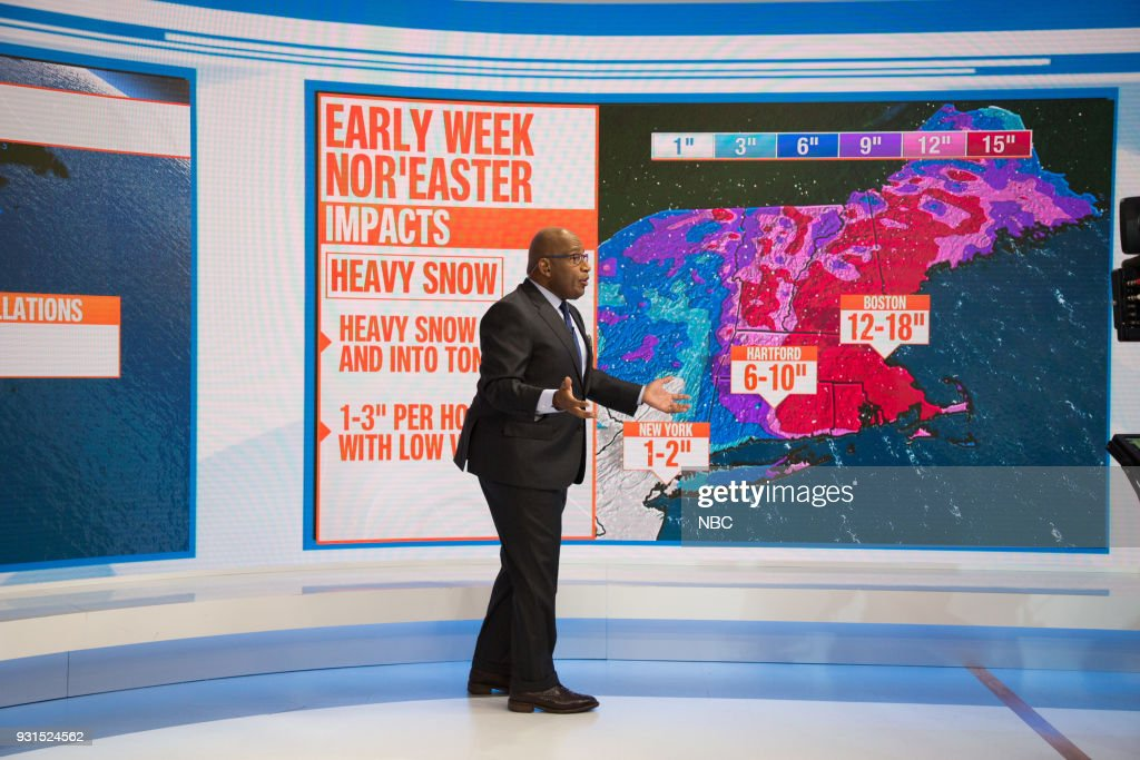 Al Roker on Tuesday, March 13, 2018 --