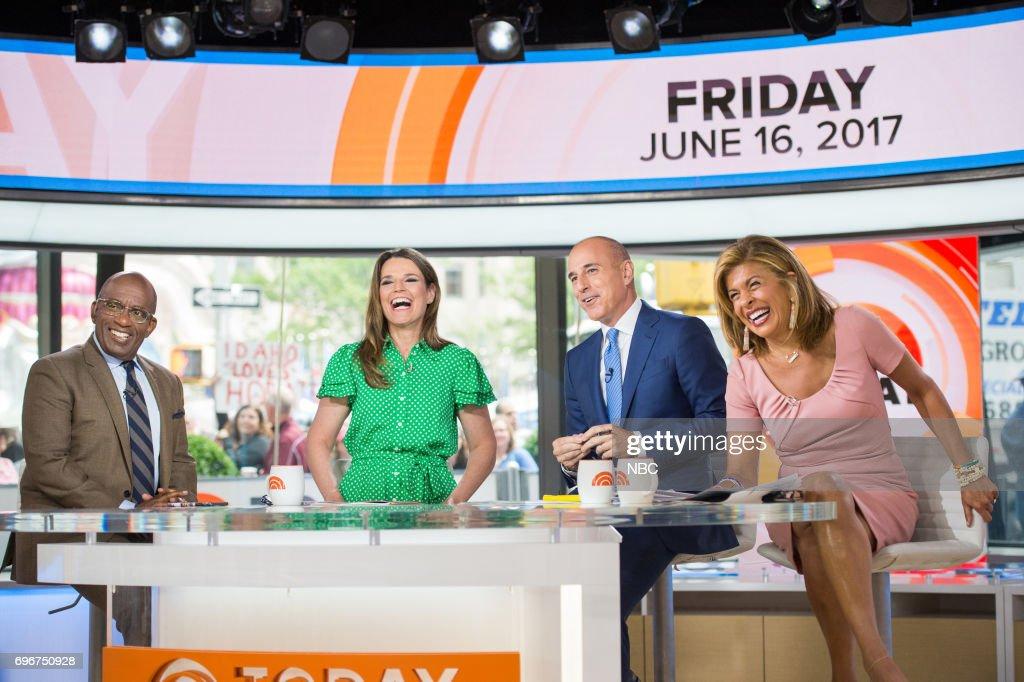 Al Roker, Savannah Guthrie, Matt Lauer and Hoda Kotb on Friday, June 16, 2017 --