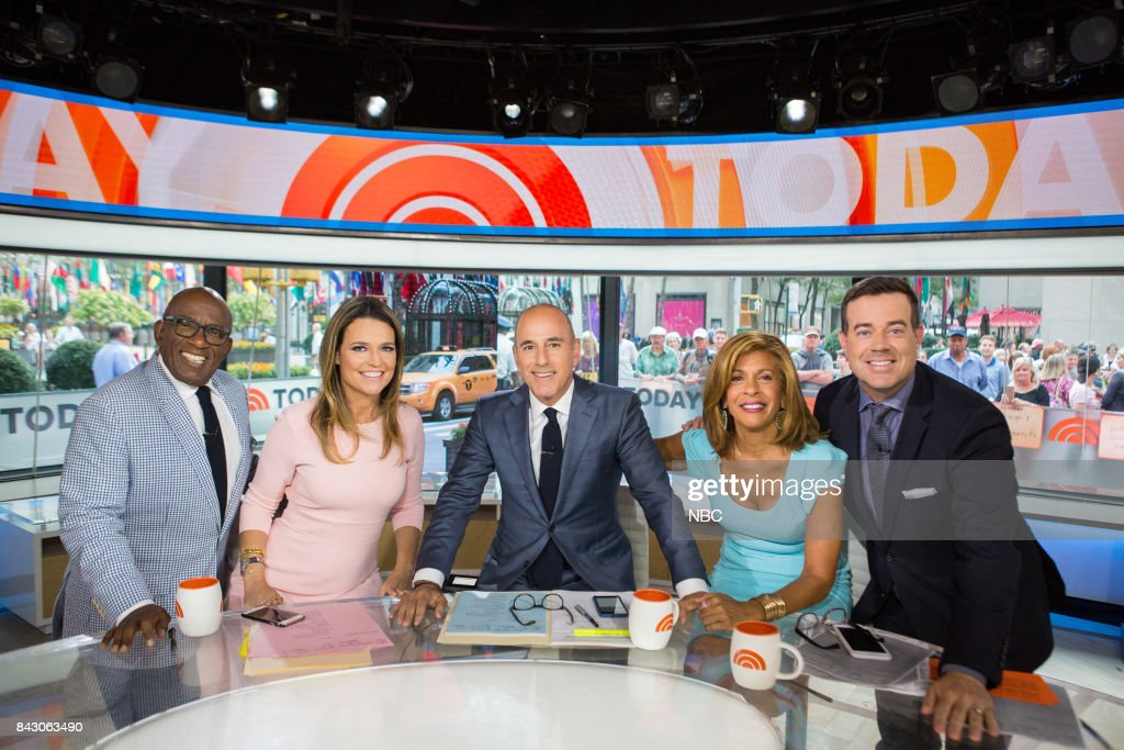 Al Roker, Savannah Guthrie, Matt Lauer, Hoda Kotb and Carson Daly on Monday, September 5, 2017 --
