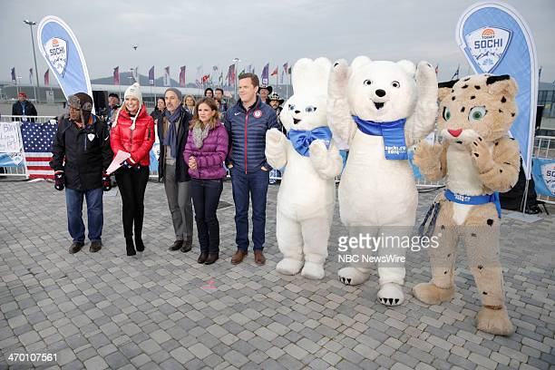 Al Roker Savannah Guthrie Matt Lauer Natalie Morales Olympic Mascots from the 2014 Olympics in Socci