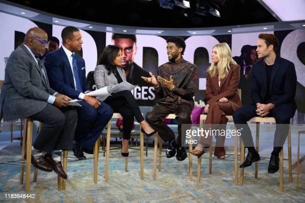 Al Roker Sheinelel Jones Craig Melvin Chadwick Boseman Sienna Miller and Taylor Kitsch on Tuesday November 19 2019