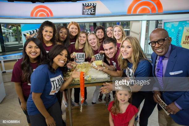 Al Roker Sheinelle Jones and Jenna Bush Hager with TODAY interns on Thursday July 27 2017