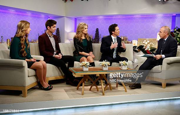 Alexandra Osteen Jonathan Osteen Victoria Osteen Joel Osteen and Matt Lauer appear on NBC News' Today show
