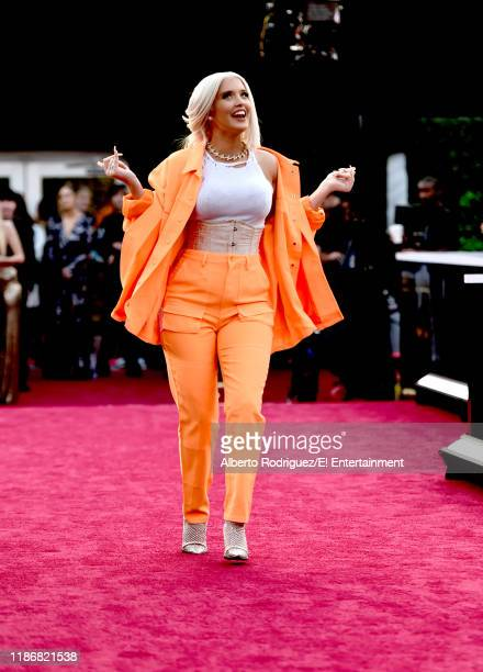 Alisha Marie arrives to the 2019 E People's Choice Awards held at the Barker Hangar on November 10 2019 NUP_188996