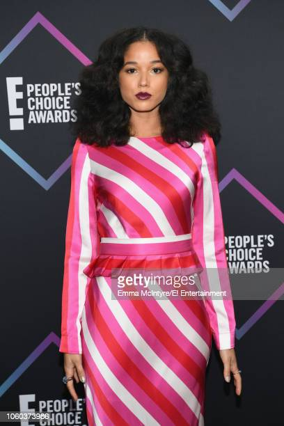 Alisha Wainwright arrives to the 2018 E People's Choice Awards held at the Barker Hangar on November 11 2018 NUP_185068