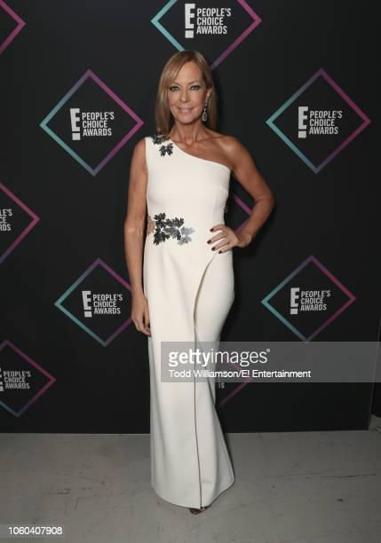 Allison Janney backstage during the 2018 E People's Choice Awards held at the Barker Hangar on November 11 2018 NUP_185073