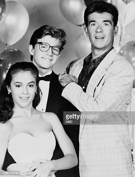 DANCE 'TIL DAWN Pictured Alyssa Milano as Shelley Sheridan Chris Young as Dan Lefcourt Alan Thicke as Jack Lefcourt