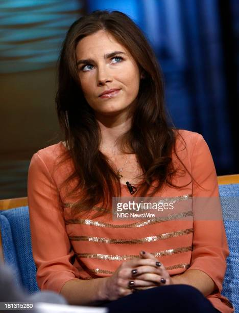 "Amanda Knox appears on NBC News' ""Today"" show --"