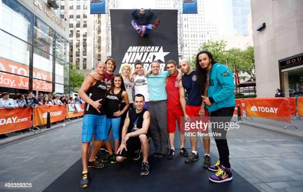 American Ninja Warrior contestants Brent Steffensen Rob Moravsky Kacy Catanzaro Jamie L Rahn Joe Moravsky Brian Wilczewski Chris Wilczewski Mike...